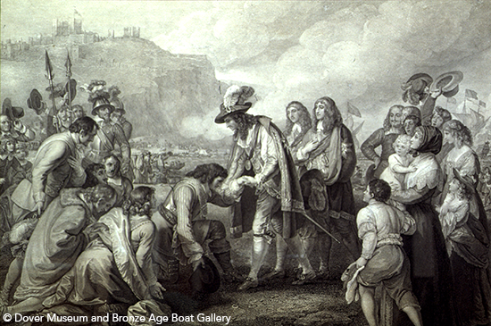 Charles II landing at Dover
