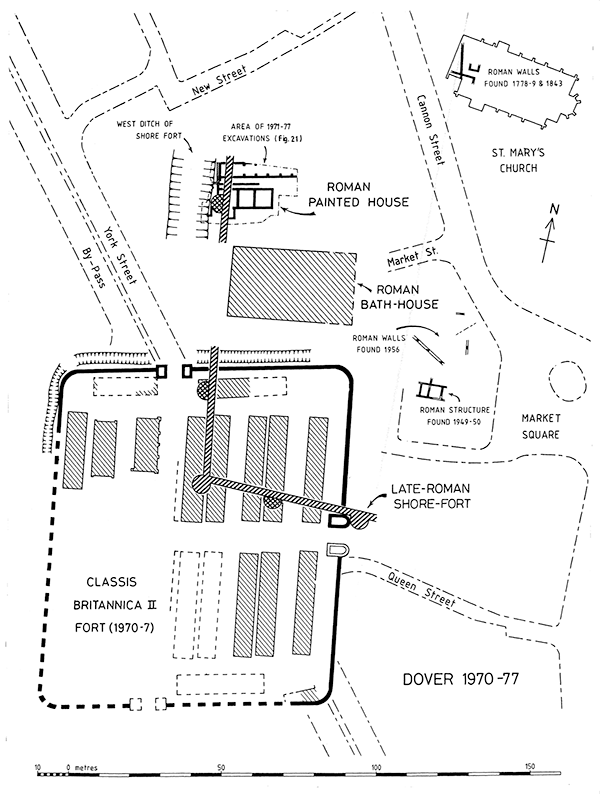 Roman remains map Dover